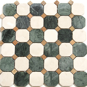 Octagon marble mosaic tile for bathroom marble floor and wall with low price