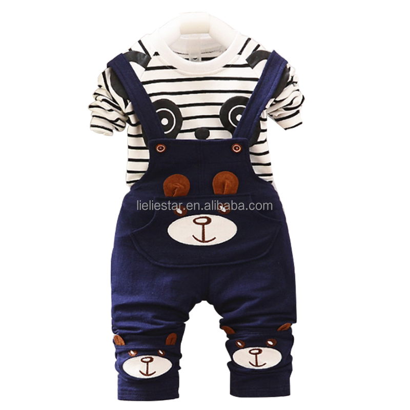 Kids clothes suit For Girls and boys Warm shirt pants Sets Children winter wholesale navy blue boys suit
