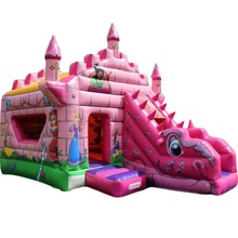 newest design Princess dragon inflatable bouncer/ bounce house/ jumping castle slide combo for rentals business