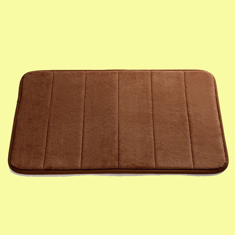 50*80cm 35D 12mm multi-purpose anti-slip door mat, floor mat ,memory foam bathroom microfiber bath mat