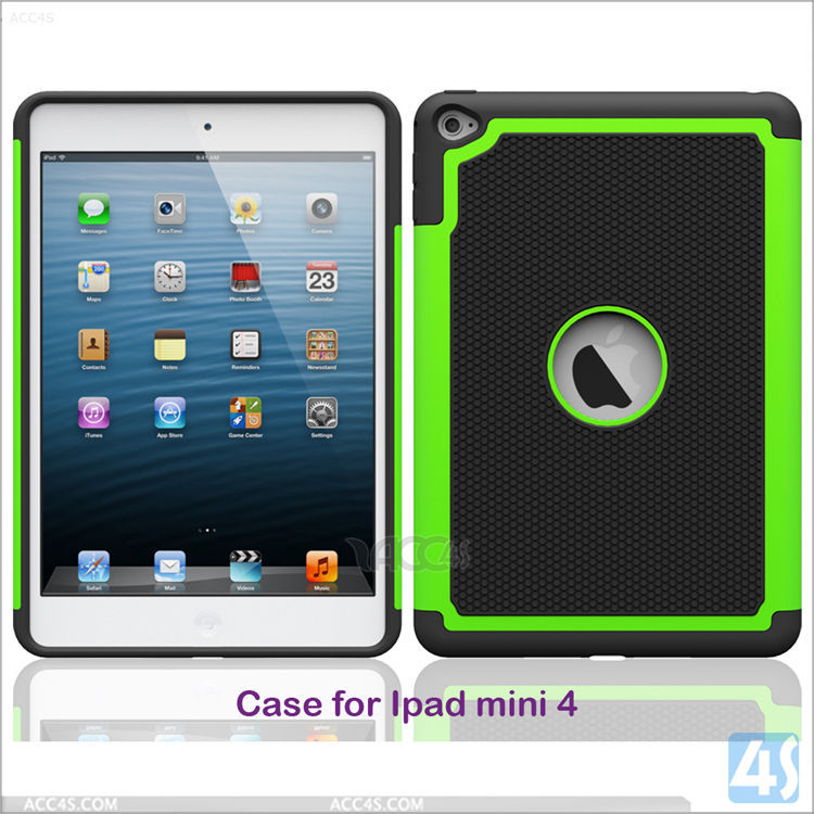 Super qulity hot selling protective 3 in 1 Hybird Hard Silicon case for iPad mini4