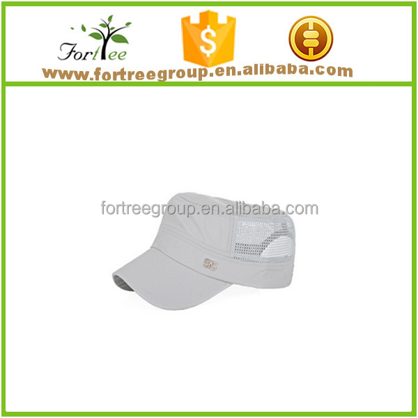 fashion summer mesh flat top military hats