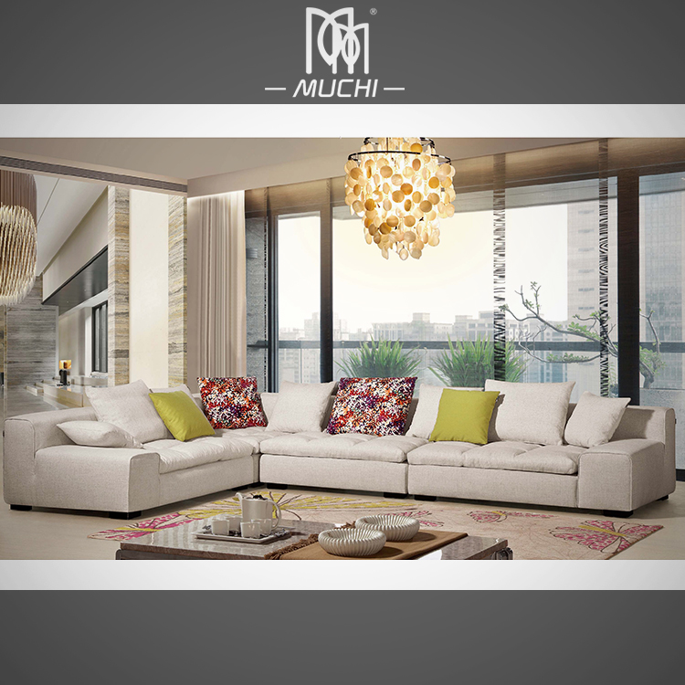 Fancy Fashionable Beige Color Low Sitting Room Furniture