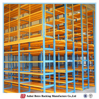 Adjustable work platform,Industrial shelf with panels china storage mezzanine