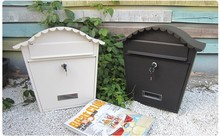 Stainless steel dustproof garden mailbox