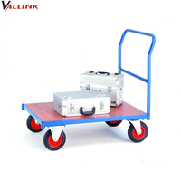 Workplace Knock Down Easy Moving Metal Platform Hand Cart
