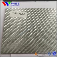 color carbon fiber sheet with 3k twill woven patterns