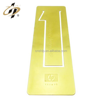 Promotional custom brand wedding souvenir gifts gold metal bookmark