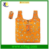 Manufacturer custom reusable foldable eco shopping bags with full print