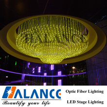 8 colors, crystal,Hotel lobby decoration fiber optic chandelier, KTV