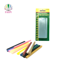 Manufacturer wholesale 11mm DIY colorful transparent crystal clear hot melt glue stick