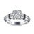 Wholesale Jewelry 925 Sterling Silver White Big Cz Stone Rings for Women