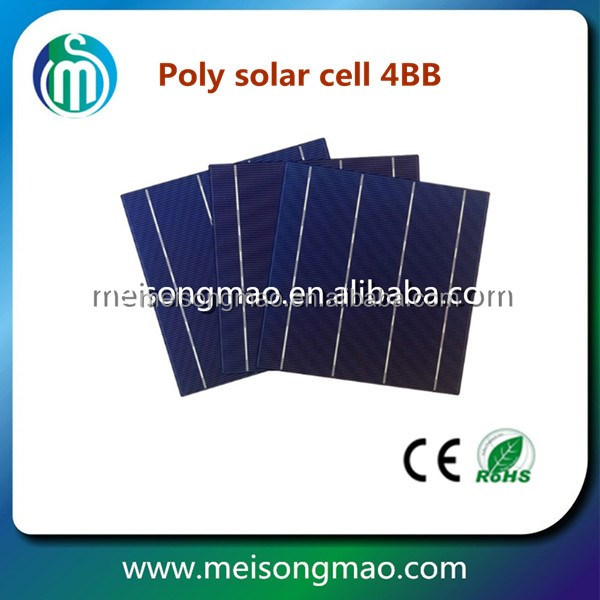 Low price Poly Solar Cell 156mmx156mm 6inch,3BB/4BB solar cell,mono PV cell