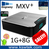 Hot selling lastest xbmc amlogic s905 mxv plus tv box android 5.1 mxv plus hybrid iptv android tv box hd dvb-t2 fta stb