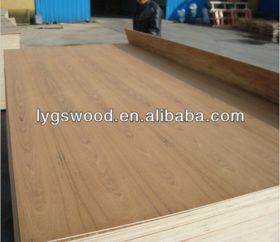 Two times hot pressed teak fancy plywood for furniture making