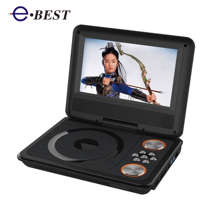 7inch large screen Portable DVD Player with digital tv tuner ISDB-T DVB-T2 option USB