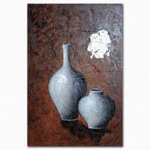 Abstract still life vase oil paintings with description of painting