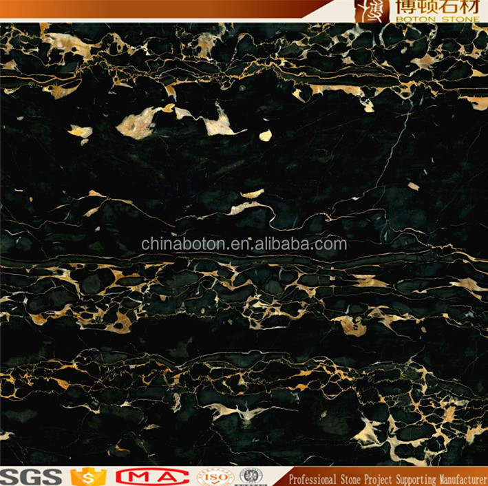 Italy Natural Best Price Portoro polished Black and Gold Marble