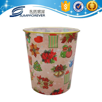 New christmas flower design hot sale trash can