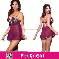 Newly wholesale alibaba china sexy transparent nightwear for women