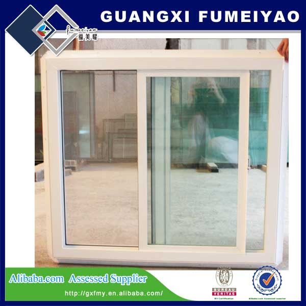 Sliding window with aluminum alloy, double glazed glass