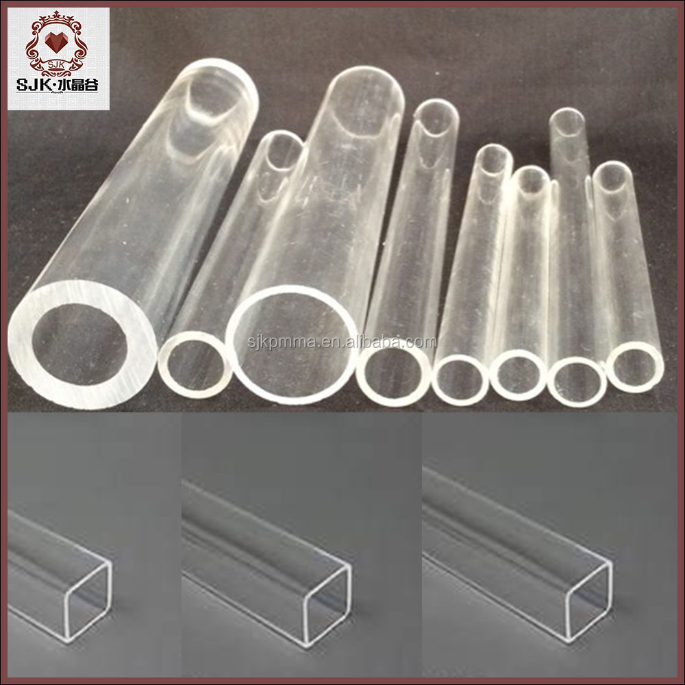 2015 hot sale clear plastic pipe acrylic square tube buy for Buy plastic pipe