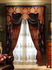Charming Festive Wedding Jacquard Bedroom Window Panel Drape Curtain, Luxury Ready Made Window Curtain