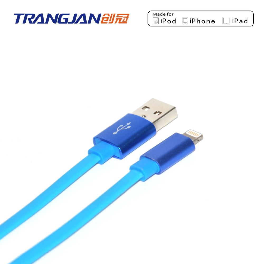flat MFi light ning cable for iphone 5 6 7