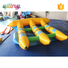 Crazy games water toys inflatable flying fish banana boat fly fish for towables