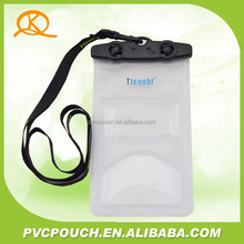 Chinese companies custom clear neck lanyard plastic diving bags