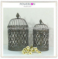 eco-friendly home and outdoor stylish artistfical Europe decorative bird cages wholesale