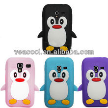 3D Cute Penguin Soft Silicone Case Cover Skin for Samsung Galaxy Ace Plus S7500