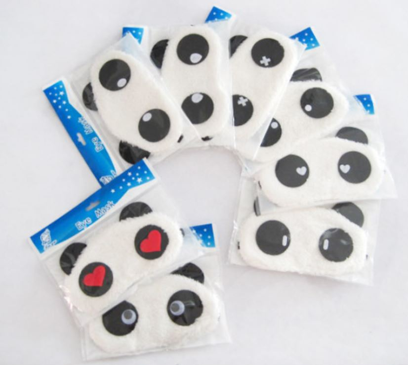 Panda shape sleeping mask