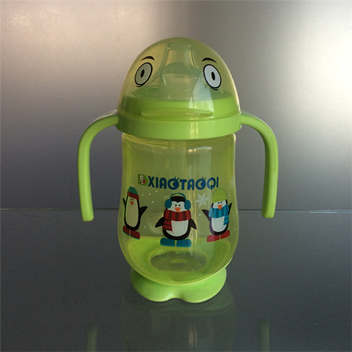 260ml PP Penguin shape baby sippy cup with nipple