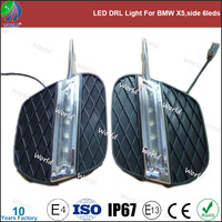 Special led drl light,with turn function,white,led drl for BMW X5,side 6leds