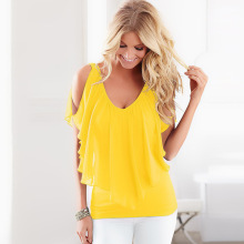 Colorful women fashion chiffon blouse
