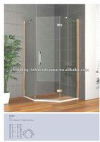 2012 chinese corner bamboo shower enclosure