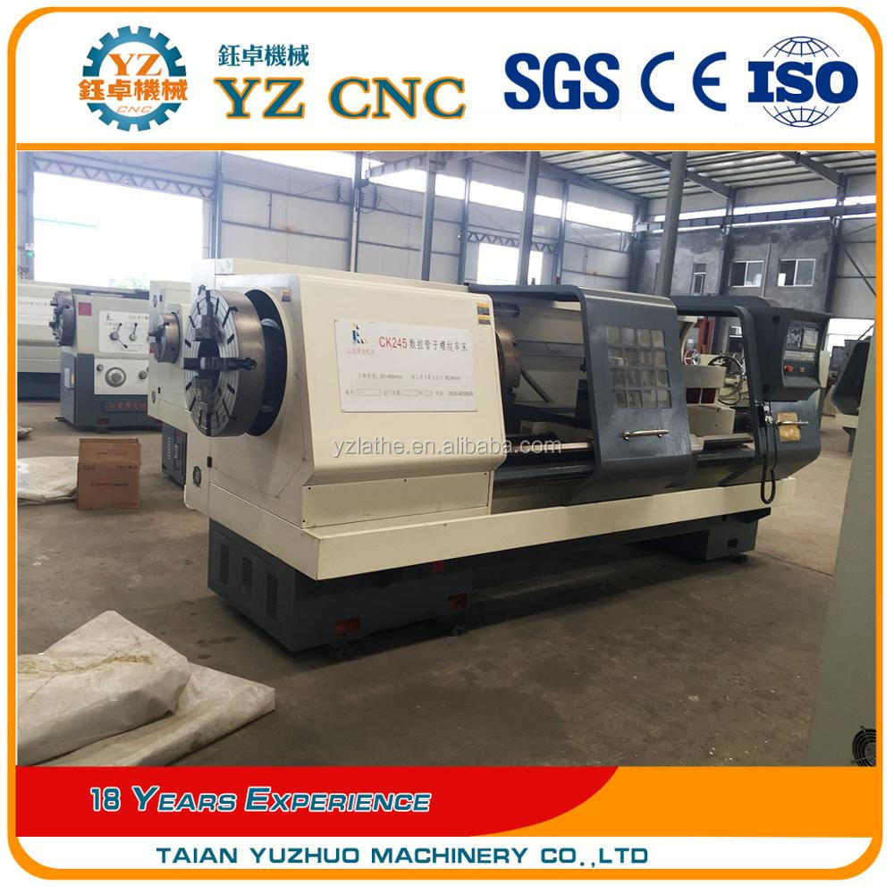 Widely Used CNC pipe thread lathe machine price ck245