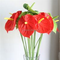 2016 Cheap wholesale mini anthurium artificial flowers and plants looks like real