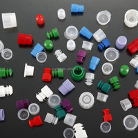 12mm Dia tube stoppers with flange plug cap