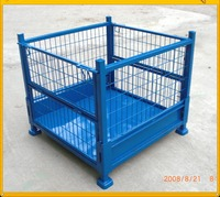 Industrial Warehouse Folding Forklift Steel Welded Wire Mesh Storage Bin