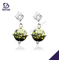 Beautiful fashion design 925 Sterling Silver Victorian Jewelry diamond silver earrings