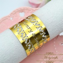 Gifts and crafts wedding and event decoration laser cut customized paper napkin ring