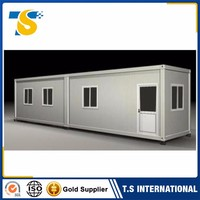 2017 luxury cheap Heat preservation strong steel structure foldable container house