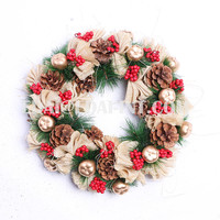 Christmas wreath decorations decorative atmosphere scene layout props colorful crafts