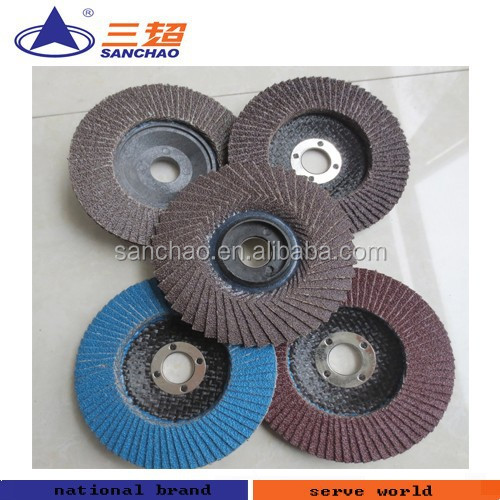 "4 1/2"" * 7/8"" Stainless Steel Polishing Abrasive Flap Disc"
