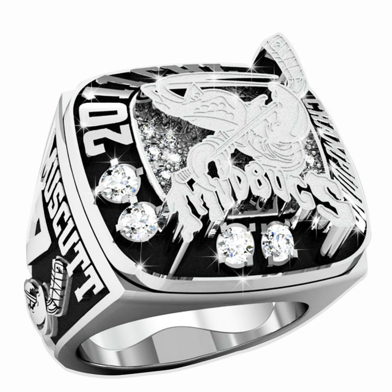 24kt Rhodium Plated with Cubic zirconia Graded AAAAA 2011 Mudbugs Championship Ring