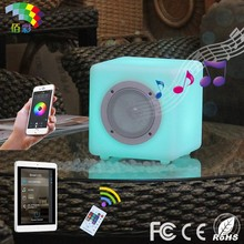 Bluetooth cube shape led speaker