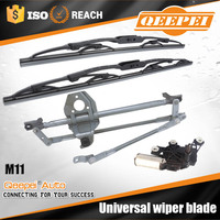 Hot selling auto spare parts accessories universal frame wiper blade with wiper motor and linkage for toyota automobile parts
