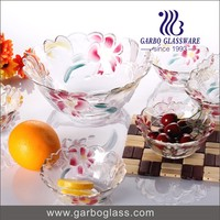 Decorative Glass Candy Bowl/5PCS Salad Fruit Bowl Set/ Glassware
